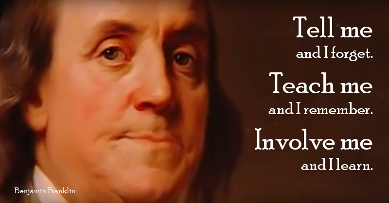 Ben Franklin educational quote, Imagine Learning blog